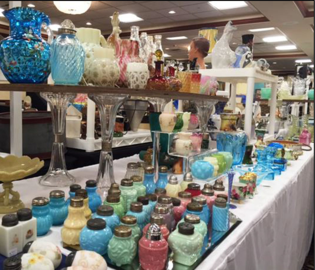 Glass booth at show
